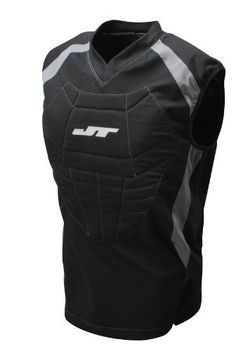 JT Chest Protector - Black - One Size Fits Most by JT. $24.95. Be well protected with the stylish JT Chest Protector. This protector has a front padding that ensures protection of key body parts. Stay protected in style as the padded chest protector has a trendy fashion-forward design. The chest protector is comfortable and has a good fit. It is made up of a durable material that makes it wear and tear resistant. This black chest protector does not restrict your m...