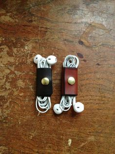 Leather Earphone Case. by skinANDawl on Etsy, $20.00