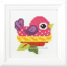 Bird in Her Nest Cross Stitch Kit