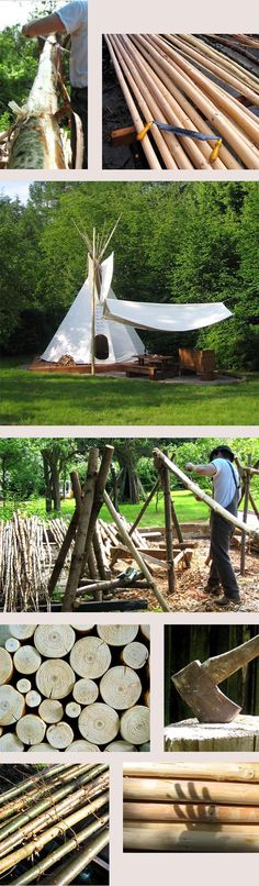 Amazing Tepee set up and handcrafted poles http://www.tipipoles.co.uk/