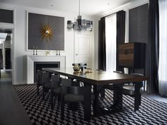 INTERIOR DESIGN PROJECTS | A sophisticated residence designed by the amazing Greg Natale. The charcoal and grey palette dominate the all decor,  with sultry mauve, burgundy and gilt accents.|www.bocadolobo.com #interiordesignprojects #moderninteriors