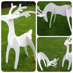 Made these today from scrap plywood Christmas lawn decoration. Let me no if u like r dislike ? Outside Christmas Decorations, Christmas Yard Art, All Things Christmas, Christmas Lights, Christmas Holidays, Holiday Crafts, Holiday Decor, Wood Reindeer, Design Ideas