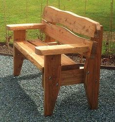 Celtic Forest: wooden garden benches