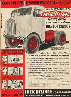Dad drove many a truck - Freightliner