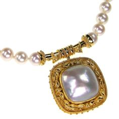 Damaskos 18k Gold Pearl Necklace