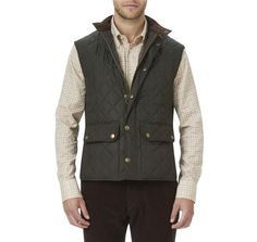 Lowerdale Quilted Gilet in Dark Green by Barbour  - 1