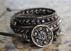A personal favorite from my Etsy shop https://www.etsy.com/listing/248419509/gunmetal-and-bronze-3-wrap-bracelet
