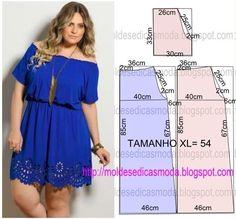 Materiales gráficos Gaby: Corte y confección : Vestido talla XL#more