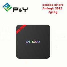 pendoo x9 pro Android TV Box Marshmallow Android 6.0 Octa-core Amlogic S912 x9 pro 2GB/16GB Pendoo 17.0 5G-WIFI,BT4.0