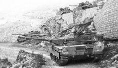 Israeli Merkava Mk 1 tanks in Lebanon, 1983