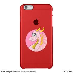 Pink  dragon cartoon uncommon clearly™ deflector iPhone 6 plus case