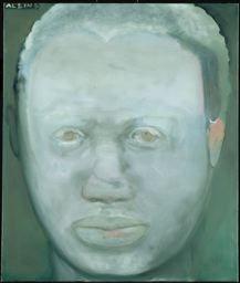 "Marlene Dumas  South African, born 1953  ""Albino"", 1986  Oil on canvas  130 x 110 cm (51 1/8 x 43 1/4 in"