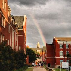 Looks like #Baylor campus is the (green and) gold at the end of the rainbow. #SicEm (via bayloruniversity on Instagram)