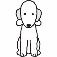 Bedlington Terrier Dog Cartoon Acrylic Cut Outs