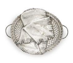 A Russian silver trompe l'oeil cake basket, Moscow, 1884 Estimate  3,500 — 5,500  USD