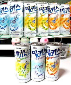 Milkis: Korean milk soda with various flavors. Reminds of Sprite.