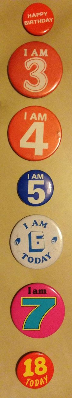 Birthday number badges