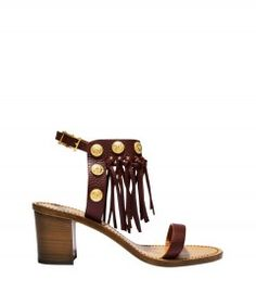 Valentino Fringe Sandal - Keep riding the rock stud wave with Valentino's new summer styles. http://shop.harpersbazaar.com/blog/whats-in-store-studly-summer