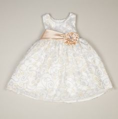 $21.75 Infant Glitter Swirl Dress with Panty - Infant Nannette Holiday Dresses - Events -- i found a dress very similar to this for Baby Girls Christening! Thanks @Outfit The Kids ... (Adriana's dedication dress is also very similar to this.)