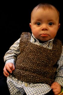 This is called a baby professor vest!!!  sam lamb: baby professor vest free pattern