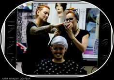 Katia Miyazaki Coiffeur - Salão de Beleza em Floripa: corte masculino - loiro platinado - Salão de Belez...