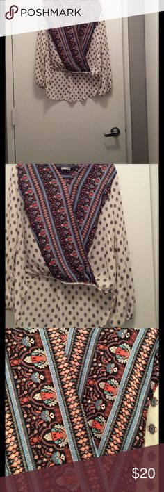 Target cross body blouse size M used Target cross body blouse size M used Xhilaration Tops Blouses