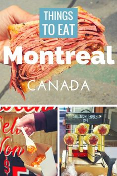 Nadire Atas on Old Montreal Headed to Canada soon? Check out this list of what to eat in Montreal! Montreal Ville, Montreal Quebec, Quebec City, Montreal Food, Backpacking Canada, Canada Travel, Canada Trip, Canada Canada, Travel Tips