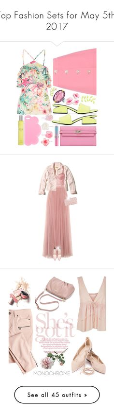 """Top Fashion Sets for May 5th, 2017"" by polyvore ❤ liked on Polyvore featuring Miu Miu, Alexander Wang, Phillip Gavriel, Hermès, Accessorize, STELLA McCARTNEY, Espa, Hollister Co., Fleur du Mal and Little Mistress"