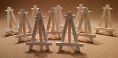 10x Mini Wooden Easel Plus 1 Free For Wedding Place, Name Holder Or Table Number