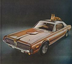 Mercury Cougar --- Cougar cousin of the Mustang