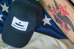 """Vintage baseball hat featuring a patch of the """"Join or Die"""" flag and a mesh back for a retro feel and contemporary fit. Join Or Die Flag, Pape Jeans, Vintage Baseball Hats, Come And Take It, Mesh, Retro, Collection, Ocd, Dresses"""