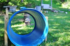 "Ideas on how to make your own ""almost-free"" outdoor playground. Somehow, I think my kids would be more inclined to play with a rubber tire than with the ugly plastic thing that they have in the backyard right now."
