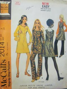 McCalls 2014 Junior's 60s Petite Dress Jumper Top by Denisecraft