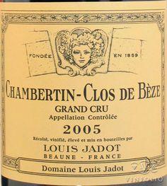 2005 Louis Jadot Chambertin-Clos de Bèze (Pinot Noir - Cote de Nuits, Burgundy, France)