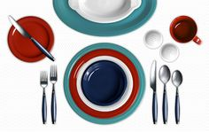 July 4 inspiration - Fiesta colors Scarlet, Turquoise, White, and Cobalt.