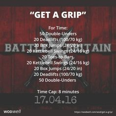 """Get a Grip"" WOD - For Time: 50 Double-Unders"