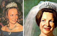 (Lost) Princess Irene of The Netherlands wears a Bourbon Parma family tiara to marry Carlos-Hugo de . Royal Crown Jewels, Royal Crowns, Royal Tiaras, Royal Jewelry, Tiaras And Crowns, Royal Brides, Royal Weddings, Adele, Dutch Royalty