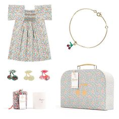 Limited-edition pieces from Bonpoint. Proceeds will benefit New Yorkers for Children, a nonprofit that supports the education and health of NYC's children in need. Little Fashion, Kids Fashion, Les Enfants Sages, Stylish Baby Clothes, French Kids, Kids Clothing Brands, Liberty Print, My Baby Girl, Retail Displays
