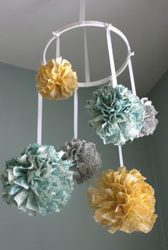 fabric hanging mobile - Google Search