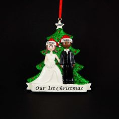 Newlywed Couple Ornament Married Couple's First Christmas Personalized Ornament Handmade Customized Holiday Gift With Handwritten Names Christmas Tree Themes, 1st Christmas, Christmas Tree Ornaments, Personalized Christmas Ornaments, Handmade Ornaments, Honeymoon Bridal Showers, Just Married, Married Couples, Newlyweds