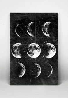 Moon Poster,Full Moon,Moon Art With Moon Phases,Astronomy Art.NO,278 by 8RedFishCreative on Etsy https://www.etsy.com/listing/212123731/moon-posterfull-moonmoon-art-with-moon