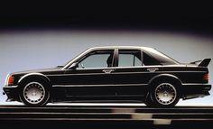The Evolution brought more hefty aerodynamic changes (Source: Mercedes-Benz) Mercedes Benz 190e, Mercedes 190, Benz G, Classic Mercedes, Kei Car, Classic Cars, Automobile, Evolution, Vroom Vroom