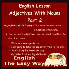 English Lesson Adjectives with Nouns Part 2  Everyone Can Speak English Like A Native Speaker!!!