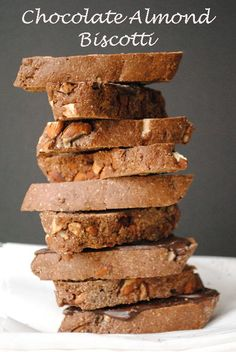 Chocolate Almond Biscotti, Italian Style (and whole wheat too)! @garlicgirlblog