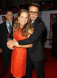 """Robert and Susan Downey - premiere of """"Iron Man 3"""" in Hollywood, 2013."""