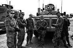 Second from the right. Karl Gatke, Sergeant First Class, Oregon National Guard Afghanistan 2014