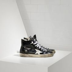 https://www.goldengoosesuperstarsneakers.com/  151 : Golden Goose GGDB Francy Hi Couples Shoes Leather Dark Blue WhiteaZobju