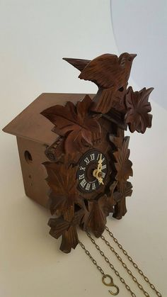 cute n small black forest cuckoo clock with a great sounding bellow