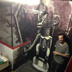 Chrismas Wall Painting in a Artistique Squatt @ Paris