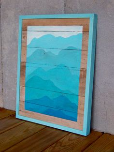 Reclaimed Wood Pallet Turquoise Mountain by RusticWoodOriginals, $130.00